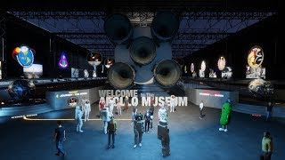 SpaceX Falcon Heavy Rocket Launch Party at the NASA Apollo Space Museum in Sansar