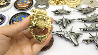 Metal Art Crafts Military Police Pins Challenge Coins Airplane Model Factory Custom