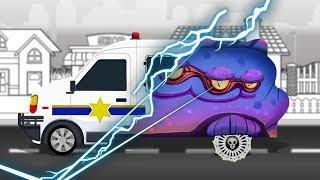 Good and Evil | Police Van | Haunted Cars Cartoon