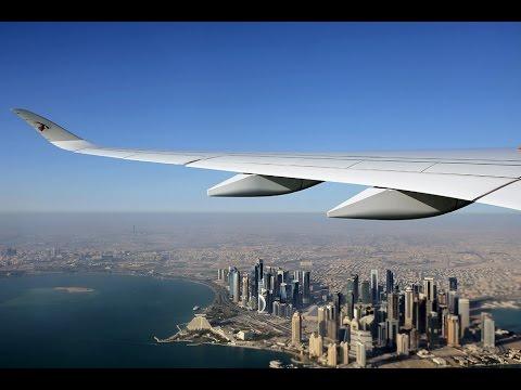 Qatar Airways A350-900 World Inaugural Flight Doha to Frankfurt 15 Jan 2015