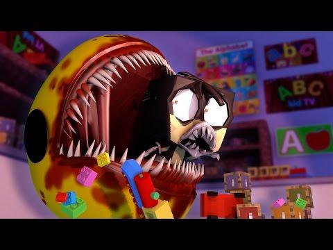 Minecraft   MONSTER BABY DAYCARE - Killer Pacman Attacks Animatronics! (Minecraft Roleplay)