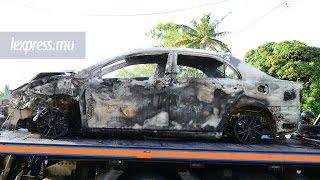 Accident à Olivia: des habitants en colère incendient la voiture