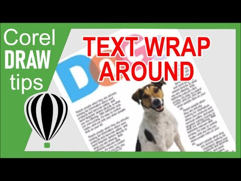 Wrapping text with an object in CorelDraw