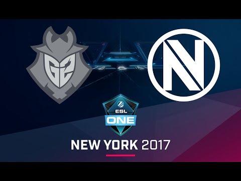 CS:GO - G2 vs. EnVyUs [Inferno] Map 1 - Semifinal - ESL One New York 2017 EU Qualifier