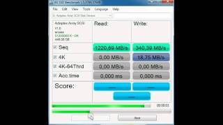 Adaptec 6805 with  8 force 60GT 6GBs disks.avi