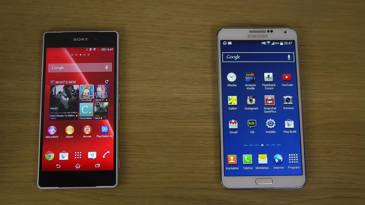 Xperia Z2 Vs Note 3 Sony Xperia Z2 vs