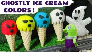 Learn Colors with Ghostly Play Doh Ice Cream Thomas Train and the Funny Funlings TT4U