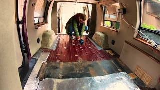 Gutting the most foul smelling 1999 Dodge Ram Conversion Van on the planet.