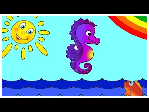 Learn Colors with PURPLE SEAHORSE - Children's Interactive Educational Videos: Kid's Lessons