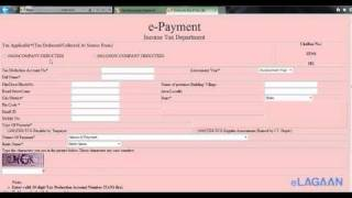 How to pay Income Tax / TDS (tax deducted at source)