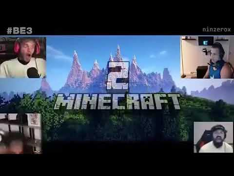 Minecraft 2 reaction (feat. Pewdiepie,Etika,Tyler1,Keemstar)