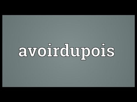 Header of avoirdupois