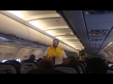 United Airlines Entertaining Flight Attendant