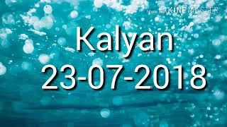 Kalyan 23-07-2018  Open with jodi and panna pennal trick.