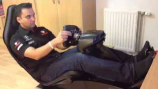 F1 2011 on my Vodafone McLaren Mercedes Playseat F1