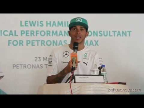 Press Conference - Lewis Hamilton as Technical Performance Consultant for Petronas Primax