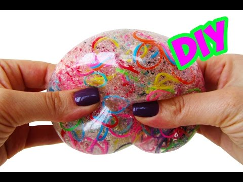 DIY МЯЧИК АНТИСТРЕСС С РЕЗИНКАМИ | DIY Orbeez Stress Ball!