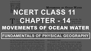 Movements of Ocean Water - Chapter 14 Geography NCERT Class 11