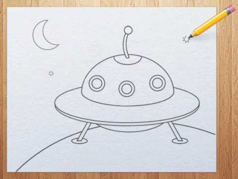Cute Ufo Drawing How to Draw a Ufo For Kids