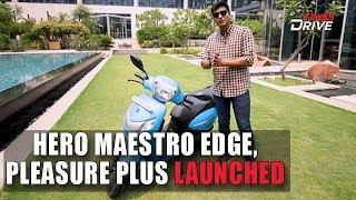 Hero Maestro Edge 125 and Hero Pleasure Plus Launched | Prices, Specs and Features | Times Drive
