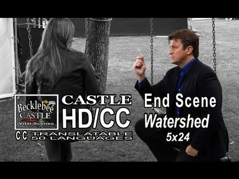 "Castle 5x24 End Scene Last ""Watershed"" Finale Ending Castle Proposes Beckett Marriage Proposal HD"