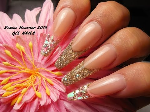 GLITTERED ! TAPERED SQUARE ---- Glittery Goodness --- Gel Nails