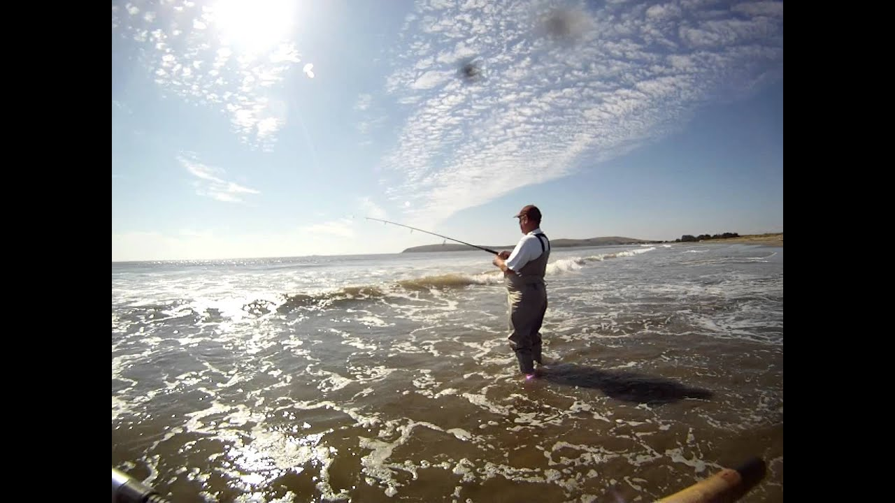 Uncle bill fishing doran beach ca youtube for Bodega bay fishing reports