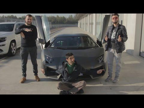 Due Youtuber in Lamborghini Aventador [dal backstage della prova The Crew]