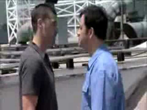 Matthew Fox and Jimmy Kimmel's Staring Contest