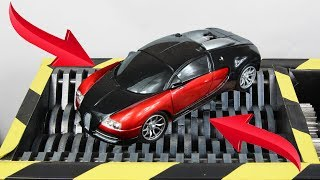 Experiment Shredding Bugatti Veyron RC Car And Toys | The Crusher
