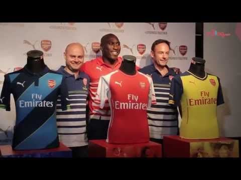 Football legend Sol Campbell unveils new Puma Arsenal kits