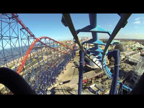 inFUSION - Blackpool Pleasure Beach front seat on ride POV 2.7k