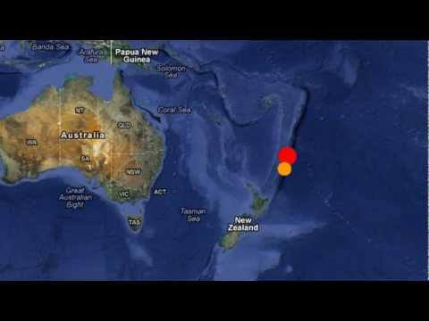 M 6.2 EARTHQUAKE - KERMADEC ISLANDS, NEW ZEALAND 1/28/12