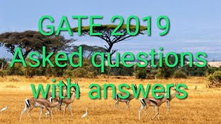 GATE XL (LIFE SCIENCE) 2019 ANSWER KEY PART 2