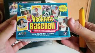 2018 Topps Archives 2 Rack Packs + 1 Blaster Box - Ohtani Coin!?