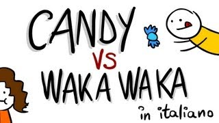 Candy VS Waka Waka tradotte in ITALIANO con Google Translate - Scottecs Parody Cartoons