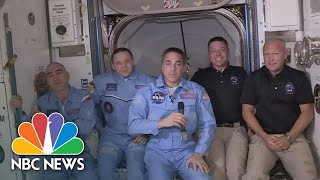 SpaceX Dragon Endeavour Arrives At International Space Station | NBC News