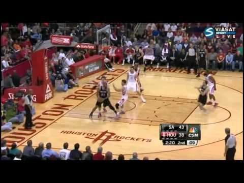 Omer Asik Blokcs Tim Duncan Three Times, San Antonio Spurs @ Houston Rockets - 3/24/2013