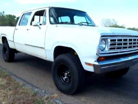 Dodge Power Wagon For Sale >> 1976 Dodge Crewcab walk around - YouTube