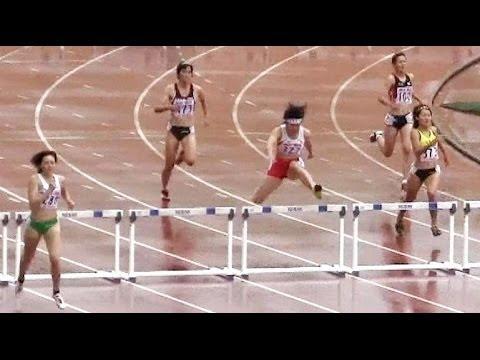 2013ユース陸上女子 400mH 予選2組 ヘンプヒル恵 2013 10 20 - YouTu