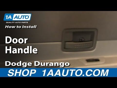 How To Install Replace Rear Door Handle Dodge Durango 04-09 1AAuto.com