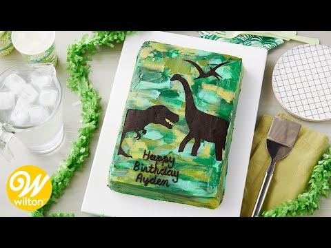 How to Make a Dinosaur Sheet Cake | Wilton