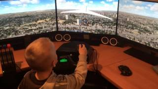 kid flying flight simulator FSX