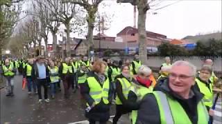 Marche des Gilets jaunes aux Andelys samedi 1er décembre