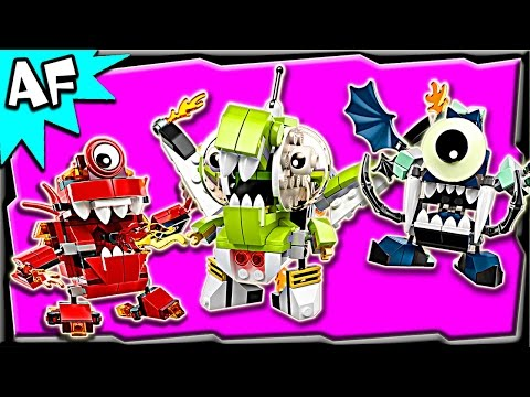 Lego Mixels MAX Series 4: Orbitons. Infernites. Glowkies Stop Motion Build Review