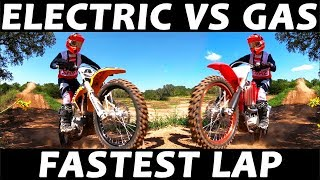Electric Vs Gas Dirt Bike - Best Lap Time!