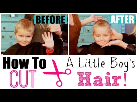 How to Cut Little Boy's Hair with Clippers & Scissors