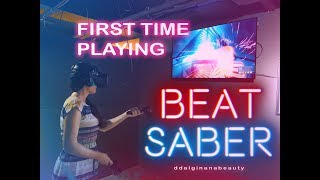 First Time Playing Beat Saber and VR (Seoul,  South Korea)