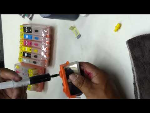 RELLENAR CARTUCHOS CANON Y HP  CON DEPOSITO  DOBLE