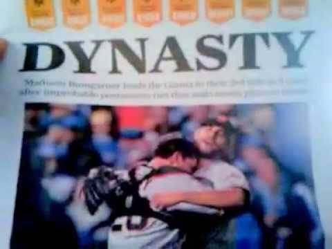 10/30/14 FRONT PAGE, SAN FRANCISCO CHRONICLE, AFTER GIANTS WIN WORLD SERIES 2014